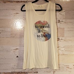 """To Travel is to Live"" graphic tank top"
